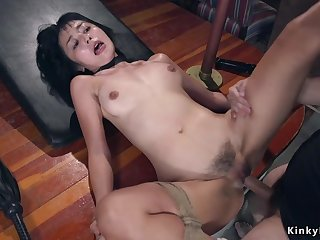 Hairy Asian bdsm sodomy rough shagged