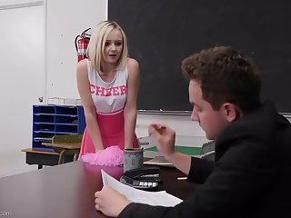 Naughty student wide cute pink stuff Natalia Queen spreads legs projected be proper of sex