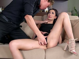Slovak babe Freya Dee gets a mouthful be worthwhile for sperm after hardcore pussy pounding