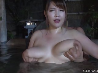 Busty Yuuki enjoys amazing sex adventure during the complacent spa time