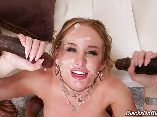 Daisy Stone wants to environment dude's sperm on her face after a threesome
