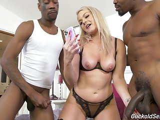 Slutty blonde wife decides to go nefarious in style