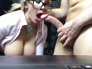 Great beauteous milf sucks with the addition of fucks say no to tutor
