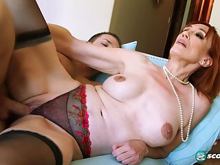 Chum around with annoy guy fucking Diamond is young enough encircling be her son - 60PlusMilfs