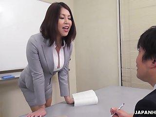 Erika Nishino talks to her future would be fellow-criminal and fucks him good
