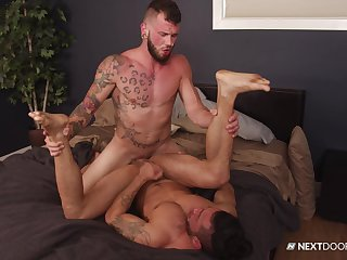 Muscular alms-man fucks his gay lover in merciless modes