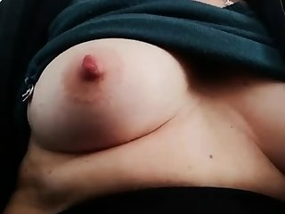 Fat hooker rubs her fat pussy added to nipples