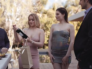 Brashness watering GF's friend Kenzie Madison turned to be edacious bitch