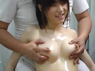 Young Japanese Babe Received A Boob Massage