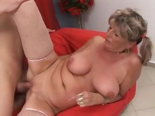 Russian Grandma Alena Seduced Grandson To Fuck