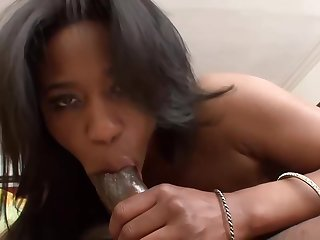 Jade is a order about sexy, black chick who looks way emend with cum all over her face