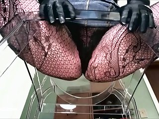 POINT-OF-VIEW of dominant woman in fishnets