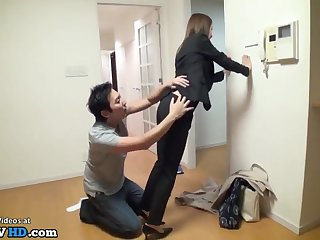 japanese house go-between hard sexual connection intercourse at work - 18-year-old