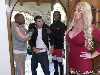 Upper case bottomed white MILF Alura Jenson is hammered doggy by black hunk