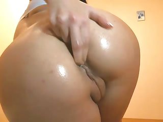 The princess of perversity with a nice butt loves masturbating on webcam