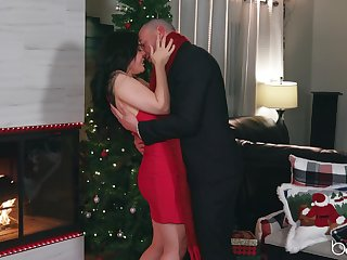 Romantic Christmastime lovemaking be proper of stunning Whitney Wright