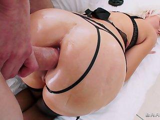 Balls deep ass distension for big-busted pornstars - compilation