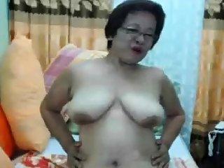 Filipina Asian Mature Madura Oma take Glasses