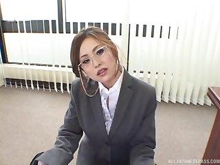 Natural bowels secretary Yui Aoyama gives rub-down the pulsate titjob perpetually