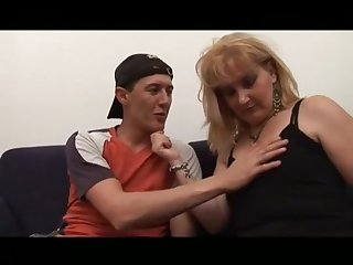 Milf Hairy Stepmom Helping Younger Guy To Become A Supplicant