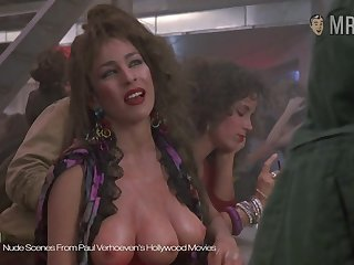 The three breasted hooker from Paul Verhoeven's peel flaunting her assets