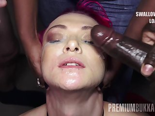 PremiumBukkake - Daniella Stud swallows 74 huge mouthful cumshots