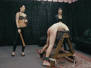 CRUEL PUNISHMENTS - Mistress Doldrums and her lesbo friend