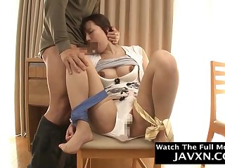 Amazing Japanese Muted cunt Mommy Fucks The brush Stepson
