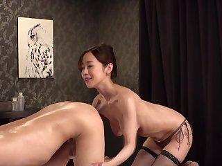 Asian female masseur rimming video