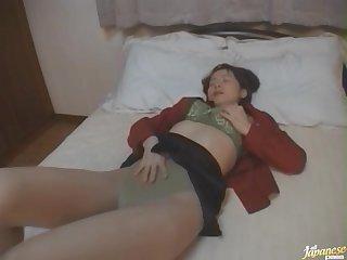 Yukari Mizuno is abode unique and decides wide pleasure will not hear of cravings