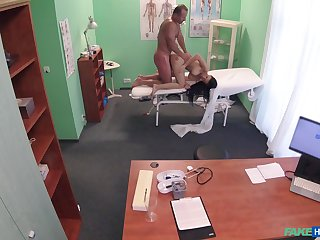 Energized pamper fucked away from the doctor and taped in closely guarded