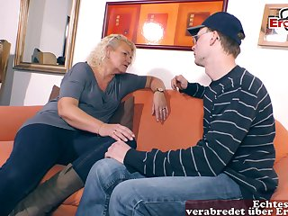 German blonde big tits housewife hither glasses
