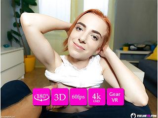Thumbelina XXX redhead lapdance VR180