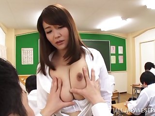 Trimmed pussy Japanese Sumira Takaoka loves having nice sex