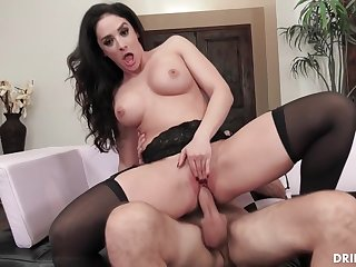 Lusty brunette with big tits, Sheena Ryder is getting fucked hard, in front of be imparted to murder camera