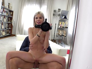 Bitch loves being recorded when putting cock up her vag