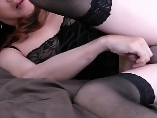 Full-grown Asian CD masturbating