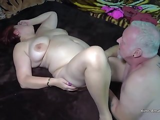Busty redhead is spreading up be advisable for her husbands friend or getting fucked hard wean away from the back