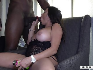 White hot non-specific enjoys a big black Hawkshaw of her new young lover