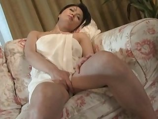 Busty Japanese wife Miki Sato enjoys pleasuring her cravings