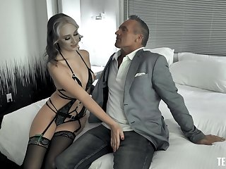 Incredible fucking on the bed with provocative Gwen Vicious