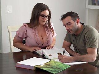 Its Hard To Remain true to Focus When You Got A Bosomy Teacher - Natasha Nice