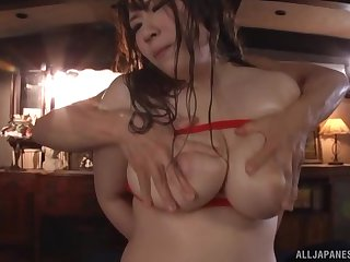 Controversial Japanese model Saegusa Chitose gets fucked balls deep