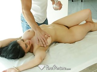 Curvy bombshell Charley Chase gets a special massage and become absent-minded chick loves dick